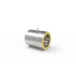 Izolowana rura kwasoodporna z króćcem pomiarowym do systemy kominowego