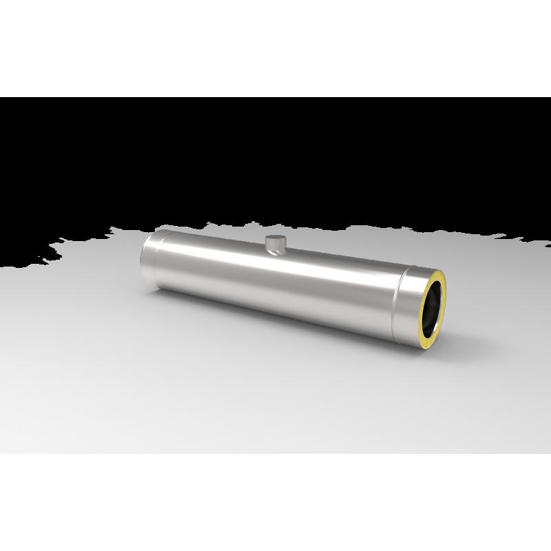 Kwasoodporna rura izolowana z króćcem - systemy kominowe