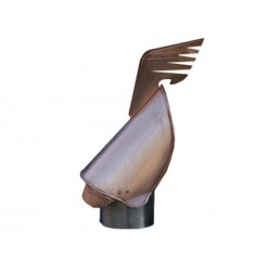Rurowa podstawa miedzianej nasady kominowej typu Rotomax