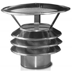 Nasady kominowe - daszek KS z 3 pierścieniami 0.8MM