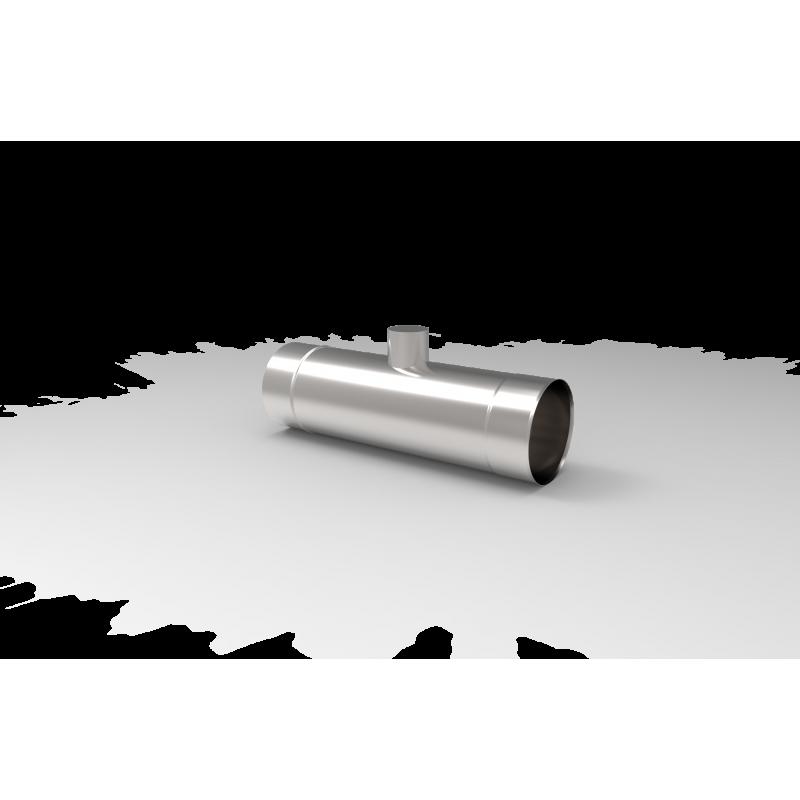 Rury z króćcem pomiarowym - 0,5mb 0,8 MM   Rury żaroodporne