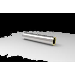 Żaroodporna rura izolowana z króćcem pomiarowym - systemy kominowe