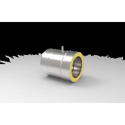 Izolowana rura żaroodporna z króćcem pomiarowym do systemy kominowego