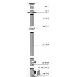 System KS fi 130 mm 0,5 mm